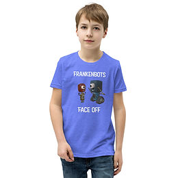 Frankenbots Face-Off Youth Short Sleeve T-Shirt