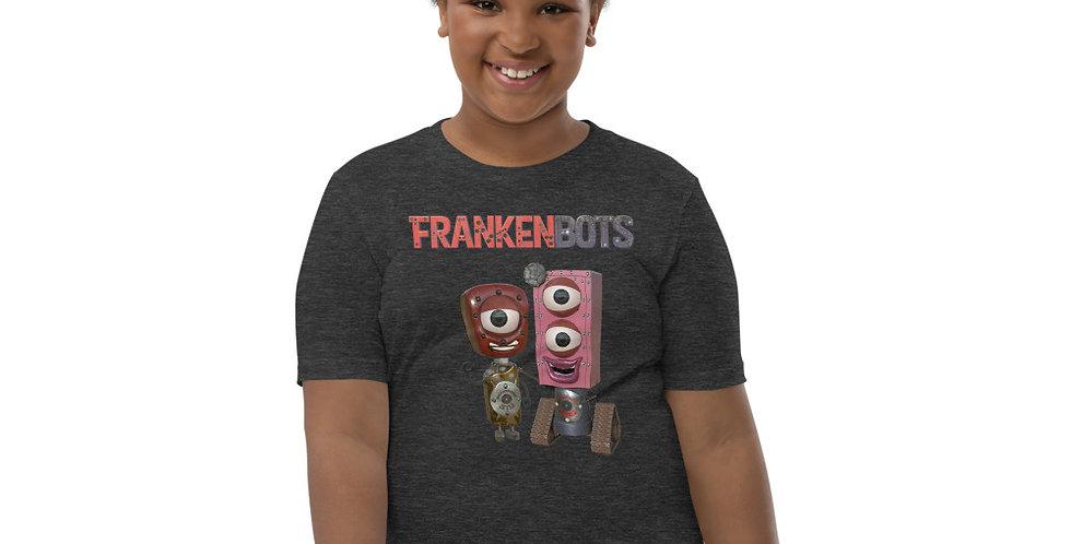 Frankenbot Flower and Stu Youth Short Sleeve T-Shirt
