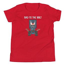 Bad to the Bolt Frankenbots Youth Short Sleeve T-Shirt