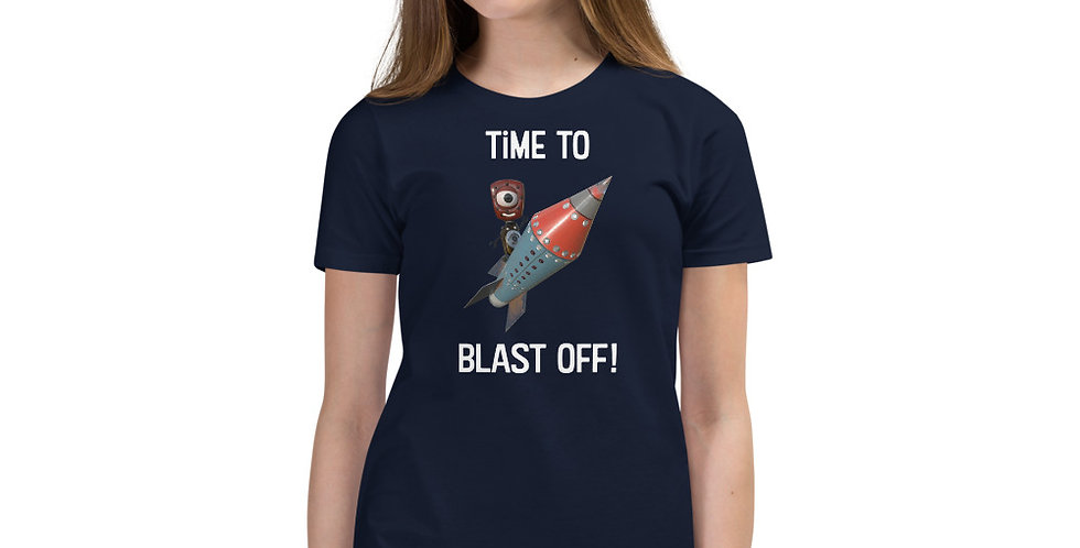 Time to Blast Off! Frankenbots Youth Short Sleeve T-Shirt