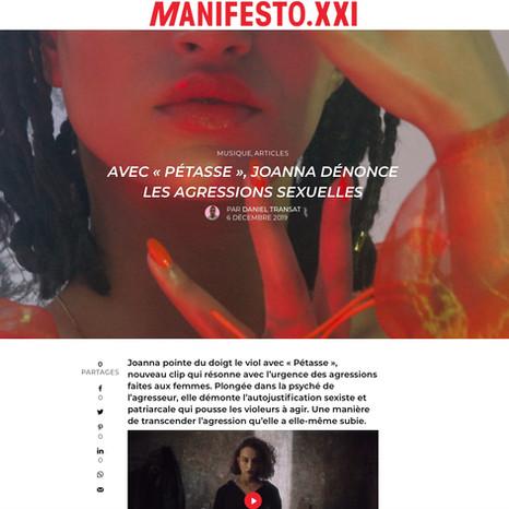 MANIFESTO XXI x JOANNA