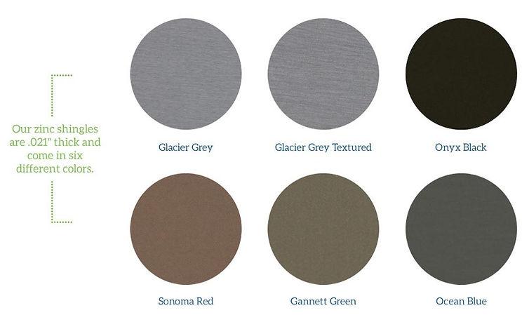 Zinc Standard Colors