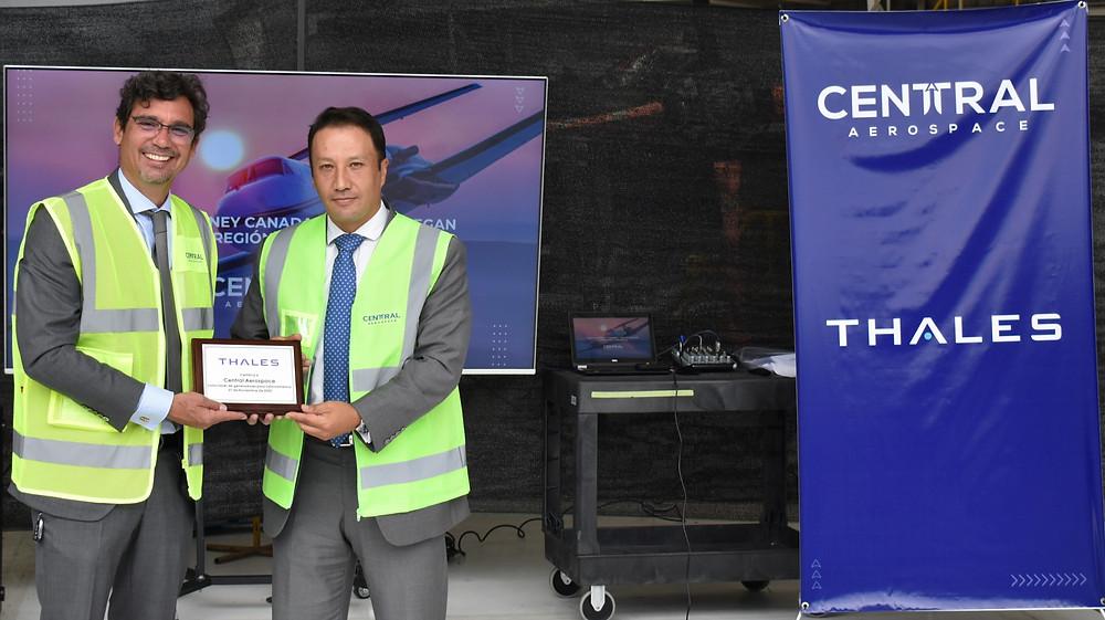 Entrega Representación de Thales Group a Central Aerospace