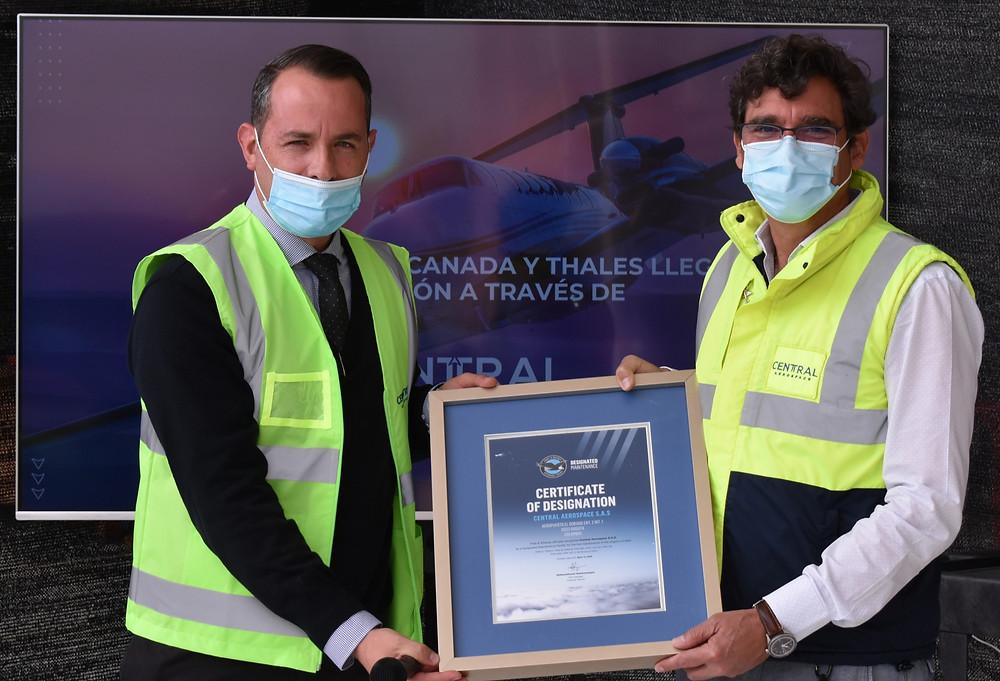 Entrega del Certificate Of Designation a Central Aerospace