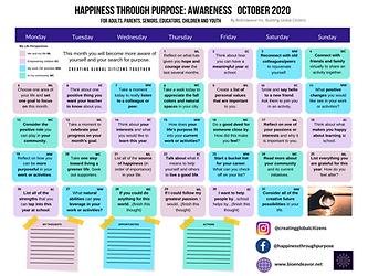 Happiness through Purpose Calendar Image
