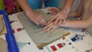 Creating a clay impression
