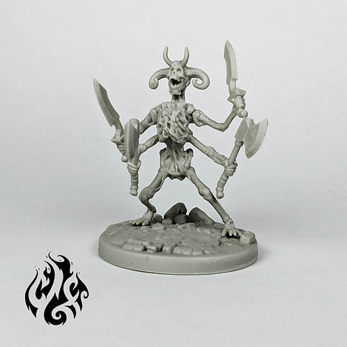 4 Armed Skeleton
