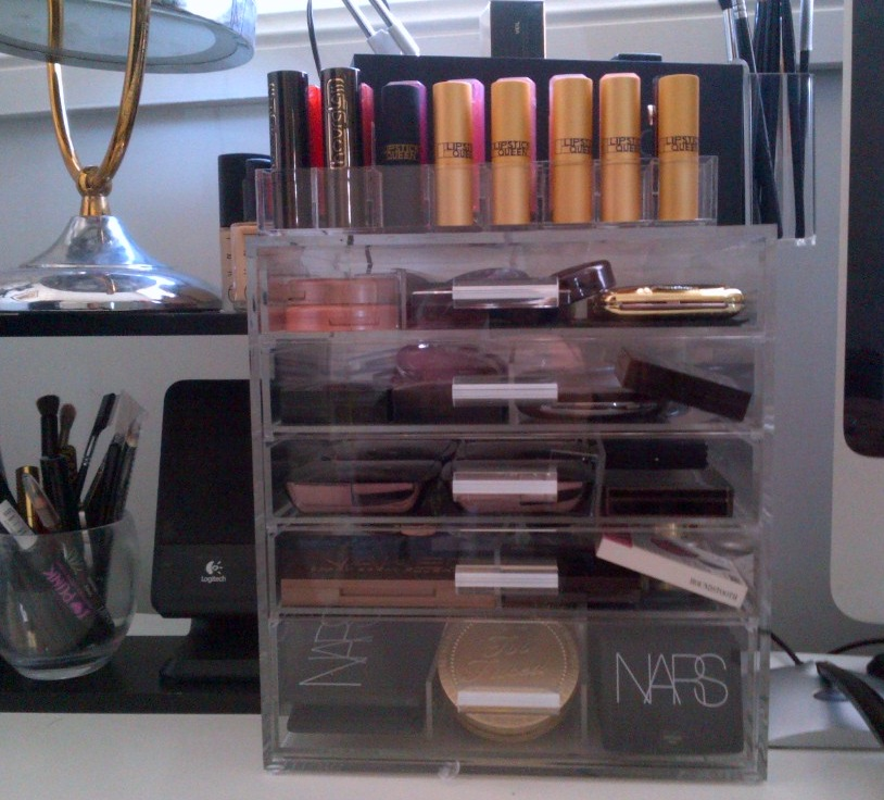 Acrylic Makeup Storage, Diamond Handle & Kardashian Makeup ...