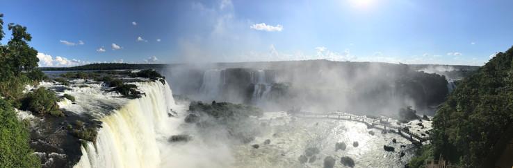 Les chutes en panoramique