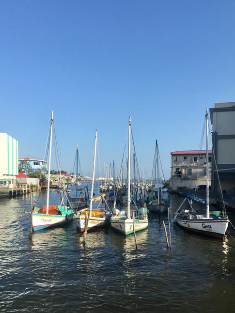 Le port de Belize City