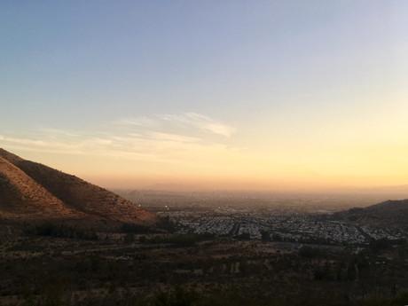 Le soleil se couche sur Santiago