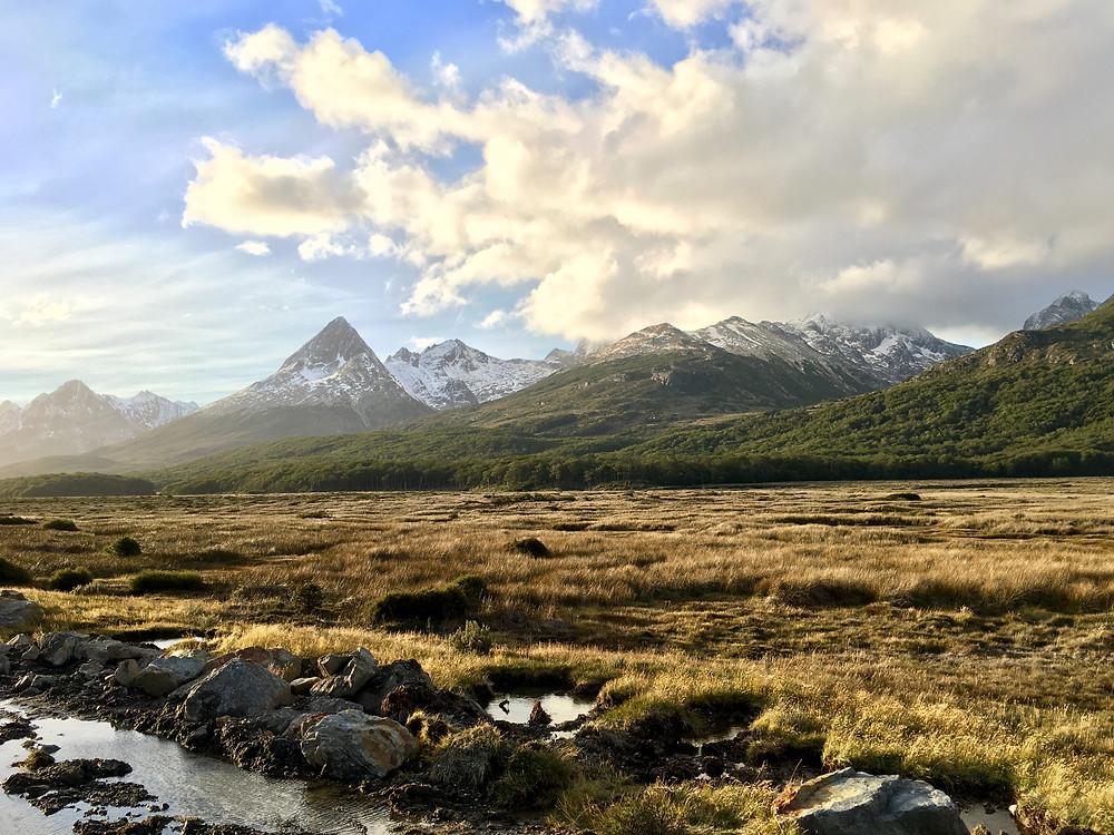 Paysage de Patagonie, sur Terre de Feu