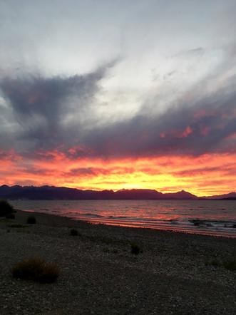 Coucher de soleil sur le lago Nahuel Huapi