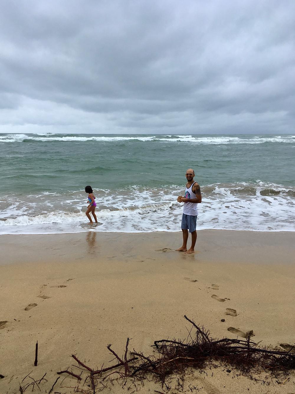 On a profité comme jamais de se baigner, l'eau est chaude malgré un ciel couvert