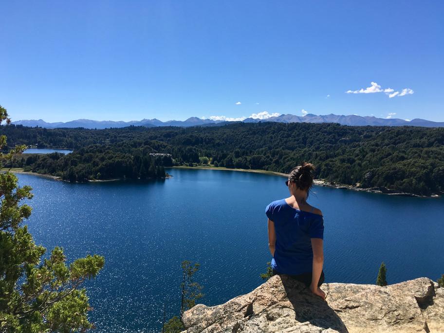 En admiration devant le lac Perito Moreno (photo d'Emilio)