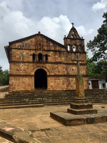 Barichara, l'église Santa Barbara