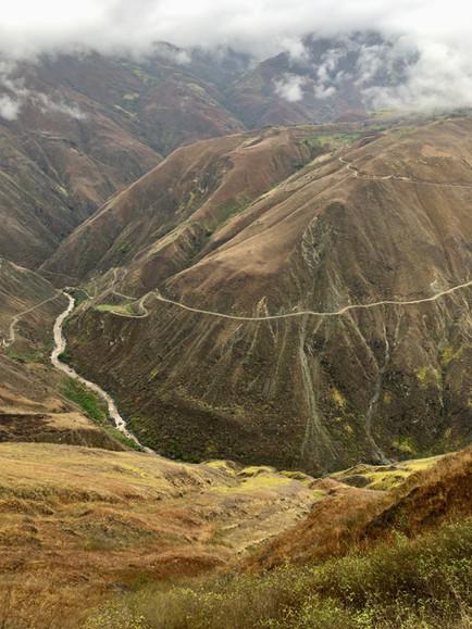 Sur la route, direction Popayan