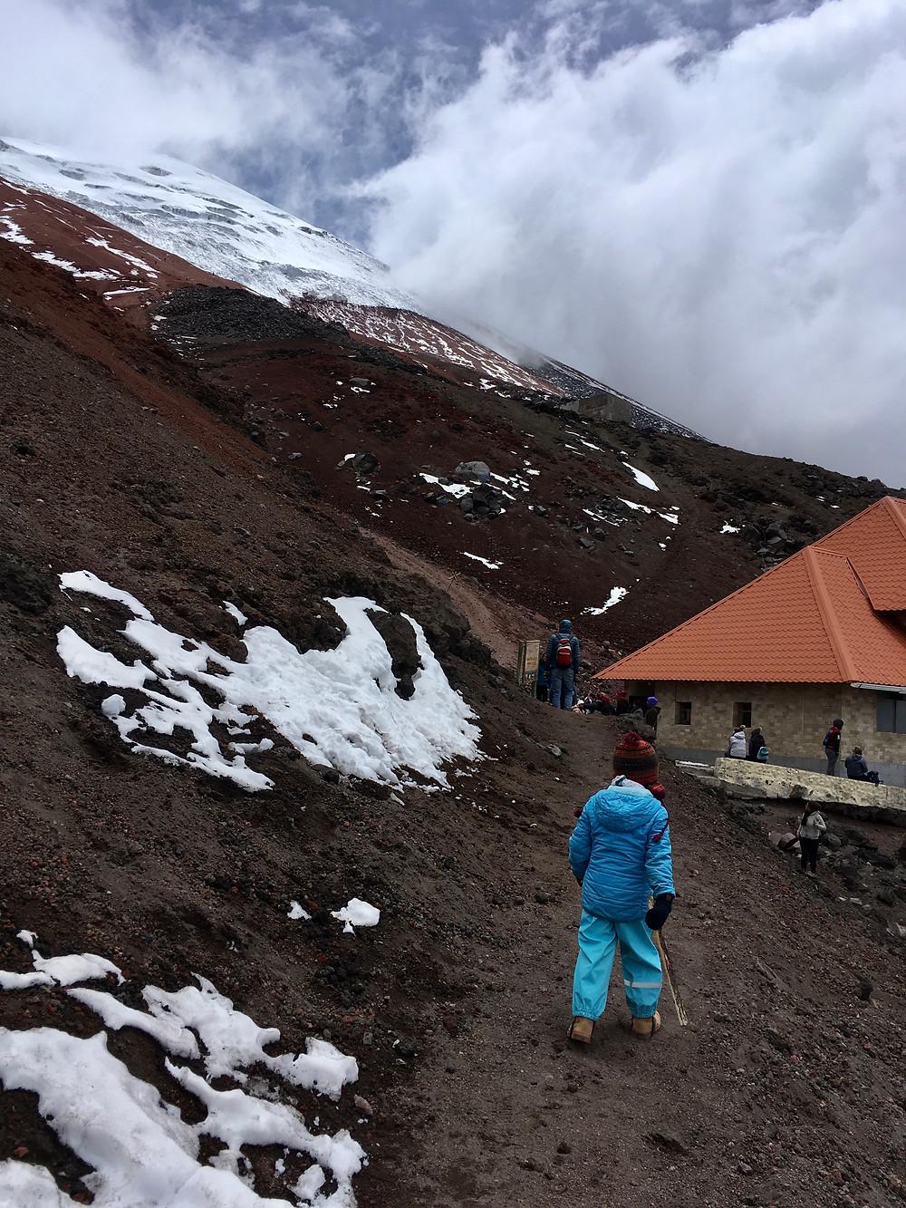 Arrivée au sommet du Cotopaxi! 4'800 mètres