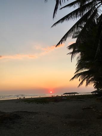 Coucher de soleil sur la Playa del Cuco
