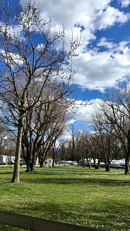 Le camping en avril