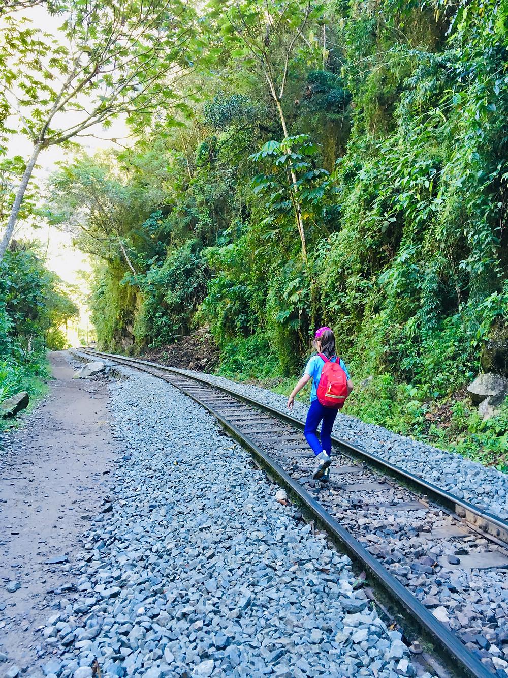 Retour du Machu Picchu, Marilou sur les rails!