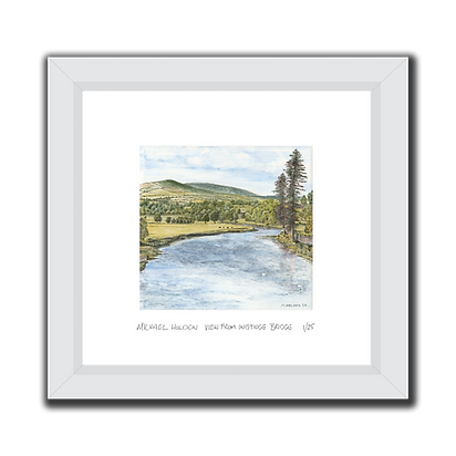 Saddle Hill View signed Print