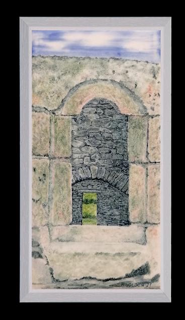 View through Cloneamery Church (ruin) In