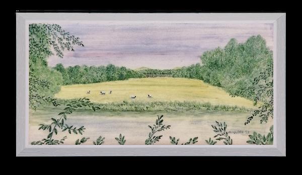 Sheep on Crow Island Inistioge.