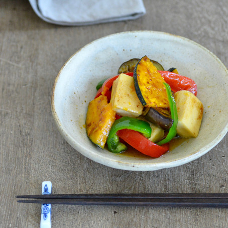 彩り野菜と高野豆腐の揚げ浸し