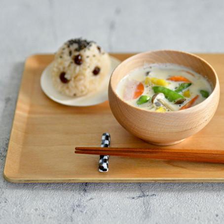 根菜の豆乳味噌汁