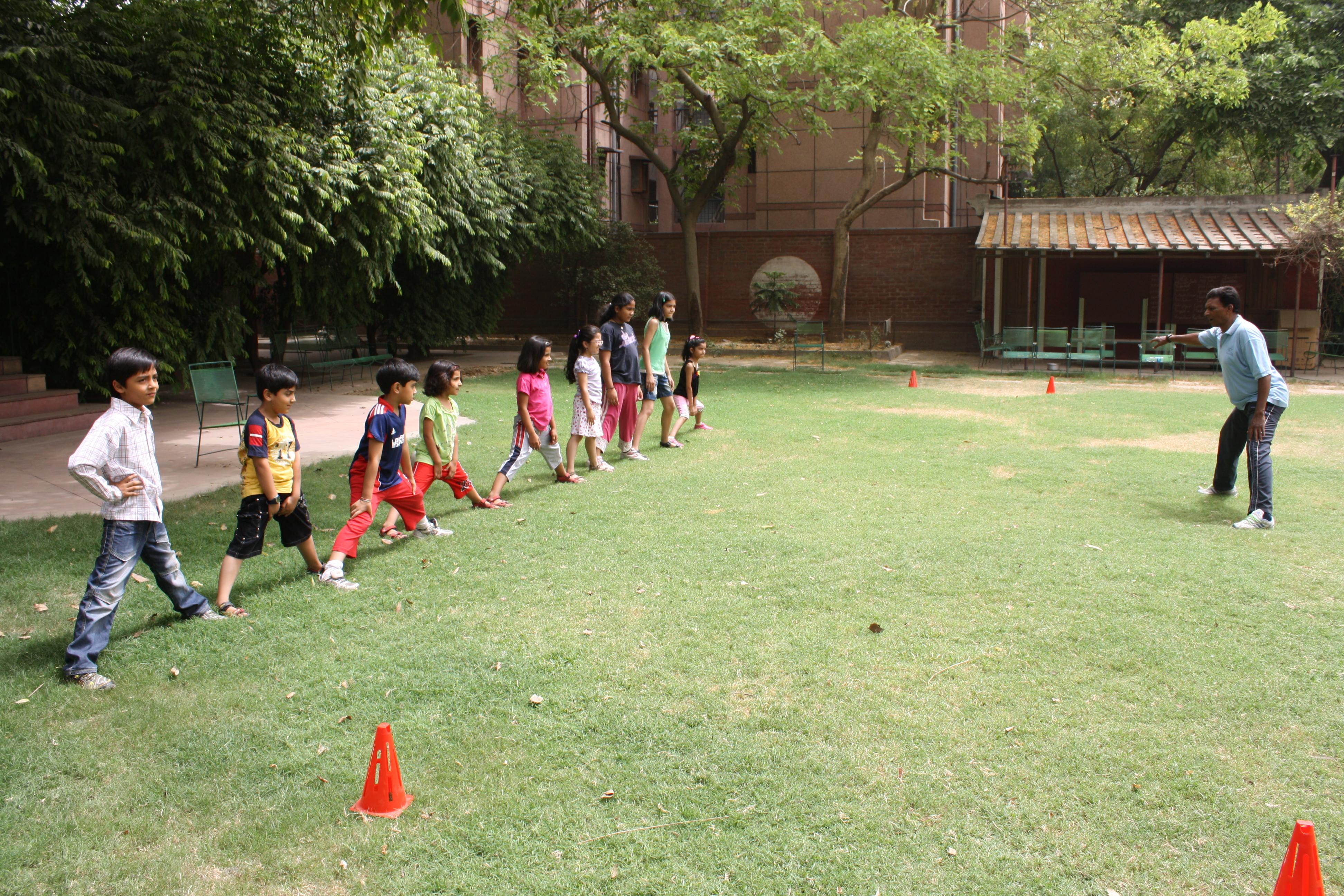 Childrens football class