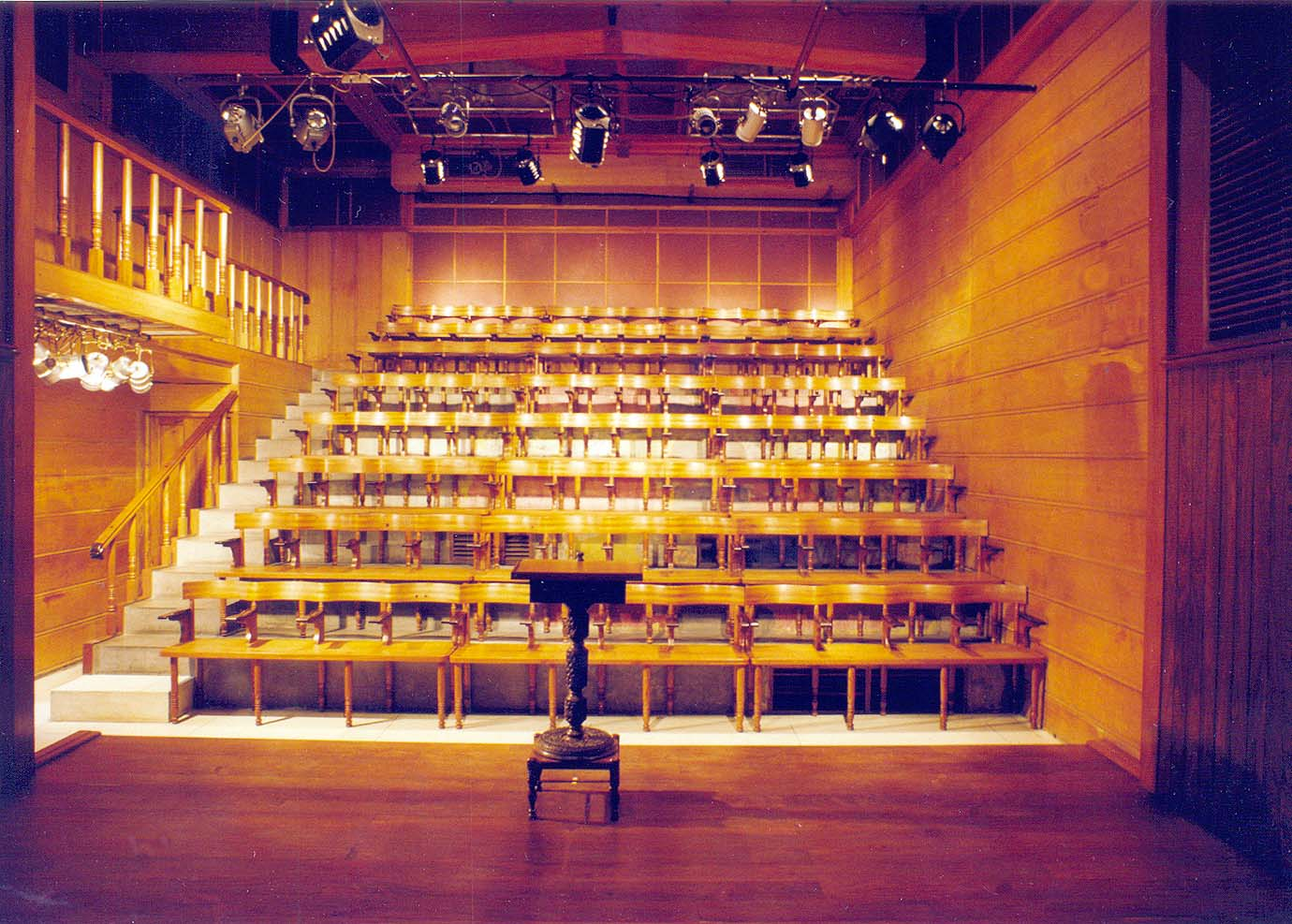 The indoor theatre