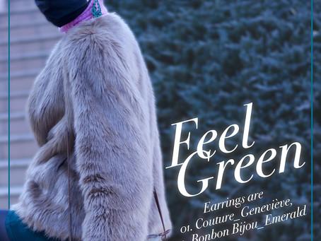 """Feel Green."" グリーンのイヤリング。/ YURIKALAMODE vo.28"