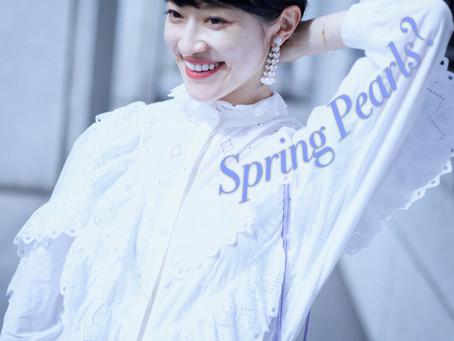 """Spring Pearls? スプリングパールイヤリング。""/ YURIKALAMODE vo.36"