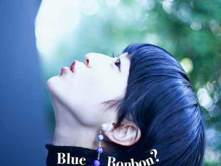 """Blue BONBON? ブルーのボンボンイヤリング?""/ YURIKALAMODE vo.32"