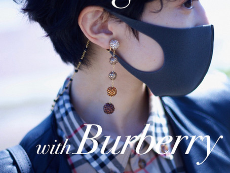 """Earrings with Burberry"" 「バーバリーと合わせる秋色イヤリング」/ YURIKALAMODE vo.21"