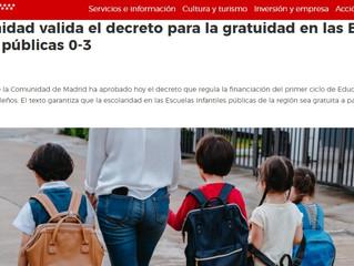 BUENAS NOTICIAS PARA LAS ESCUELAS INFANTILES PÚBLICAS