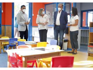 VISITA DEL CONSEJERO DE EDUCACIÓN DE LA COMUNIDAD DE MADRID Y DEL DIRECTOR GENERAL DE EDUCACIÓN INFA