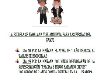 PROGRAMACIÓN FIESTA DE SAN ISIDRO