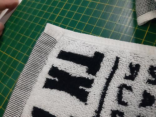 黑白 運動毛巾1