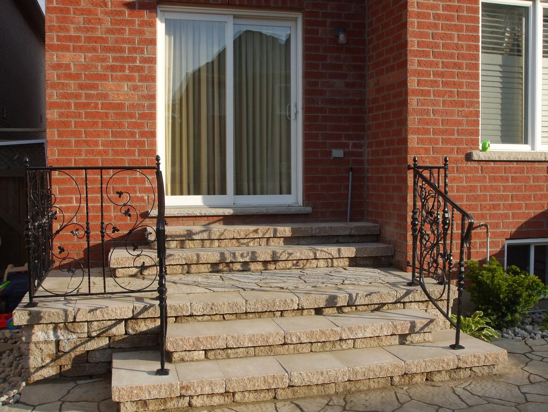 Backyard steps