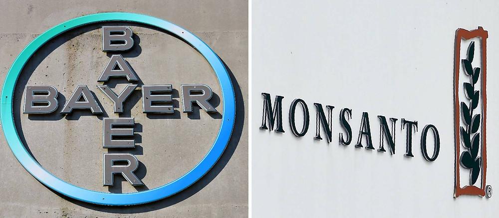 Combo de foto con los logotipos de las dos corporaciones ahora fusionadas. PATRIK STOLLARZ JOHN THYS AFP