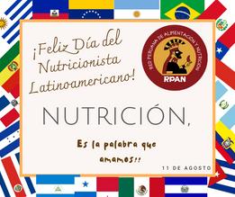 ¡Feliz Día del Nutricionista en Latinoamérica! 11 de agosto del 2020