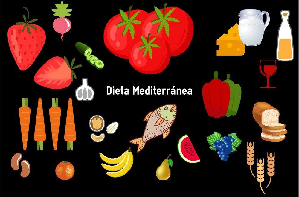 Principales alimentos de la dieta mediterránea. EFESALUD