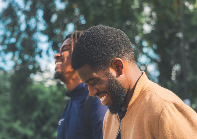 Black Male models laughing