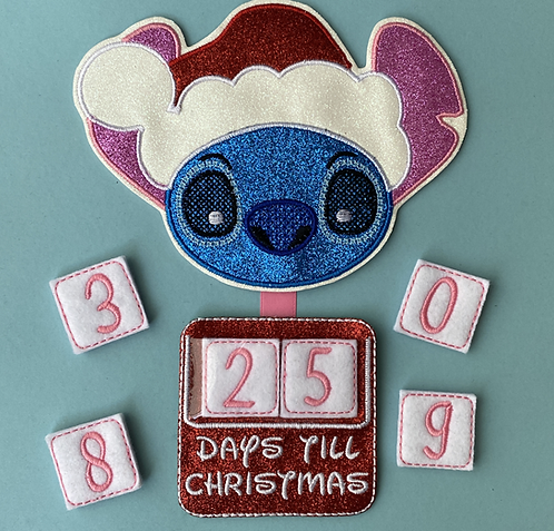 99 Days - Christmas Embroidered Countdown