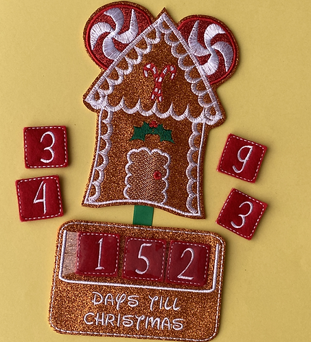 365 Days - Christmas Embroidered Countdow