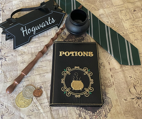 Potions - embroidered notebook cover