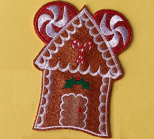 Gingerbread House design Ear/Bow holder
