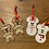 Thumbnail: Christmas Snowpeople Decorations